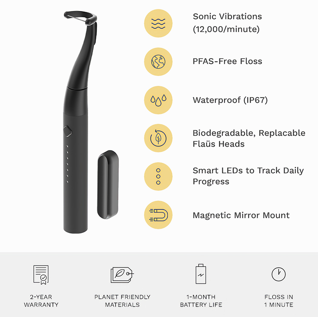 Hate flossing? This innovative electric flosser flawlessly cleans your teeth in 60 seconds