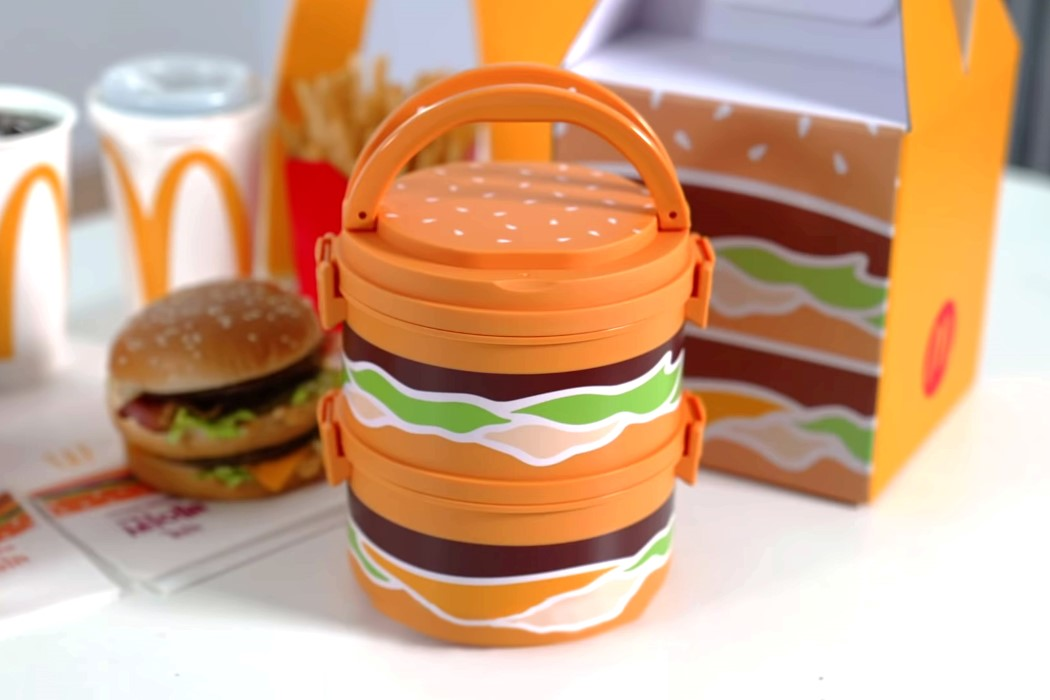 McDonald's Korea just launched a limited-edition Big Mac-inspired stackable lunchbox!