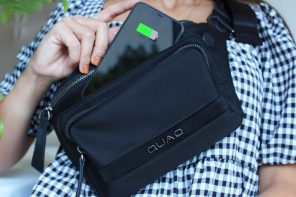 The world's only everyday crossbody bag that wirelessly charges your smartphone
