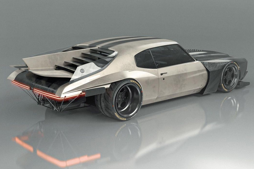 This batman-worthy Chevrolet SS concept radiates Batmobile character, sans the all black look!