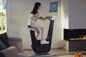 This exercise bike rewards you with Netflix and gaming to keep you working out!