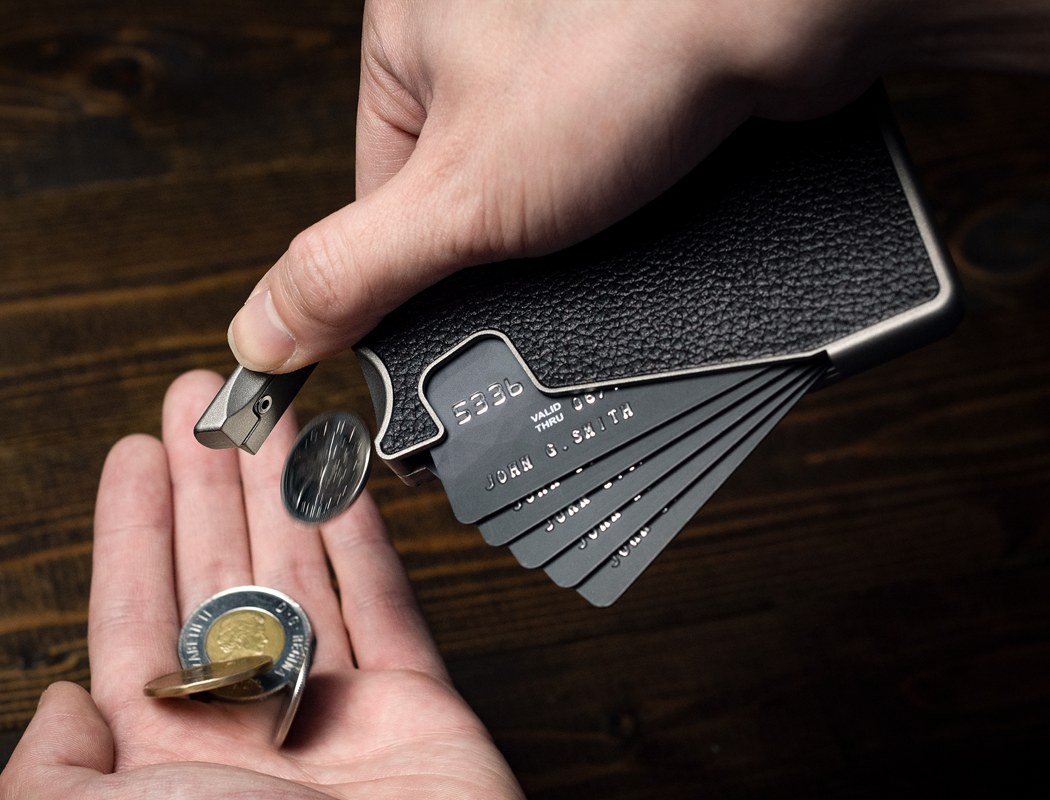 This modular thin metal wallet will make your bifold feel ancient
