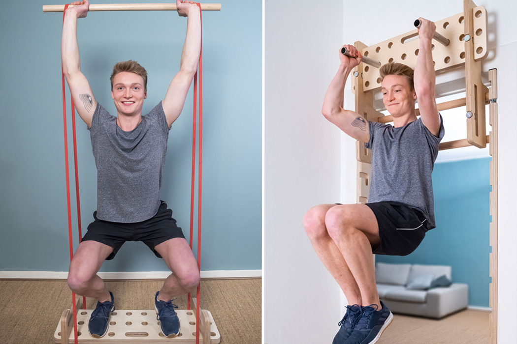 This no-drill bar fits onto any door frame, giving you a home gym to meet your fitness goals!