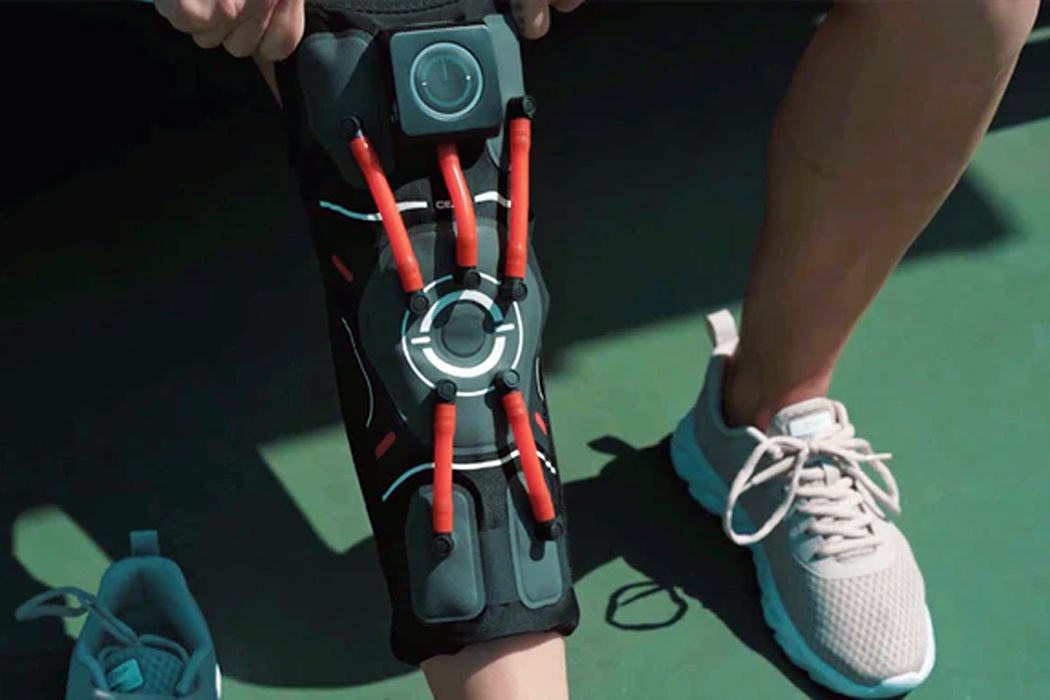 This intelligent knee brace uses AI to give you the right support you need, avoiding knee pain!