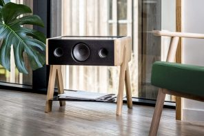 This side table is also a powerful 200W high-definition sound system!