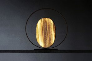 This sustainable lamp is designed using discarded banana fibers!