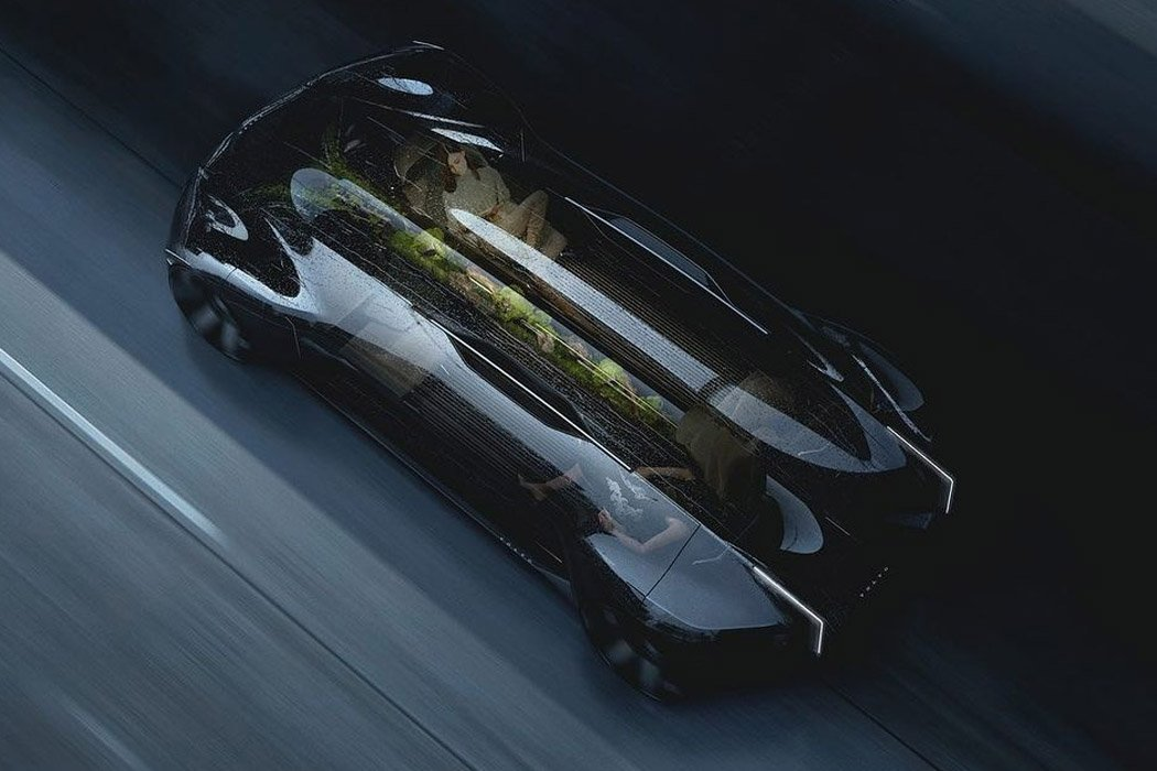 Volvo Haven embraces an evergreen indoor garden for digital detox while travelling