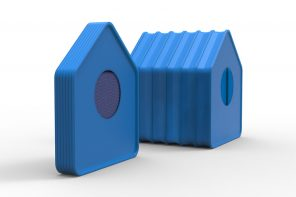 This pet house is designed like an accordion with silicone and magnets so it can be flat-packed!