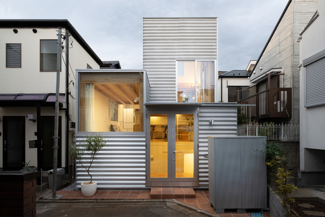 This tiny home panelled in corrugated steel was built in ode to Tokyo's ever-changing cityscape!