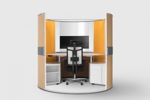This retractable office solution provides privacy and isolation for remote work and WFH days!