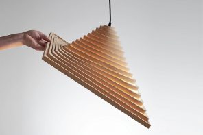 This flatpack origami-inspired product unfolds into a layered lamp for a modern yet space-saving light design!
