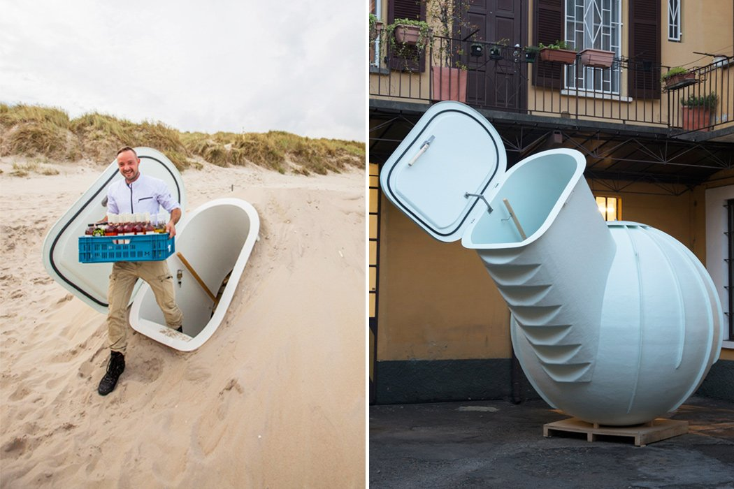 This sustainable underground fridge keeps food chilled naturally, no electricity needed!