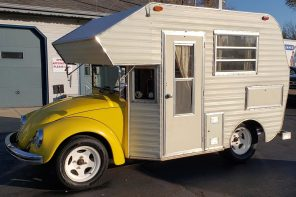 1969 Volkswagen Beetle turned camper design for a nostalgic vibe is actually available for sale!