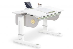 This height-adjustable desk works across the ages – from school to work life!