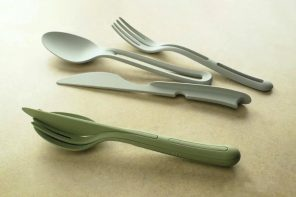 Anthropologie's reusable cutlery nest into each other to become an easy-to-carry bundle