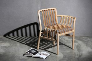 Inspired by a waterfall, this award-winning Taiwanese bamboo chair makes wood look as fluid as water