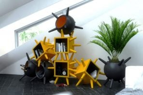 Quirky-looking furniture uses a virus-inspired pronged design to stack and stick to one another!