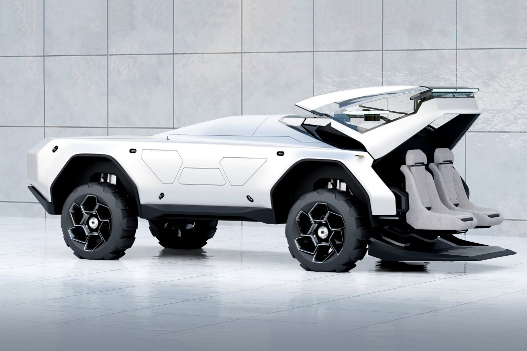 Cybertruck-inspired Rover concept was designed to explore the terrain on Mars