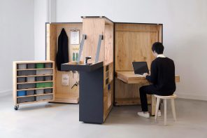 A DIY movable office that doubles up as a storage space for your tools… and comes in a box!