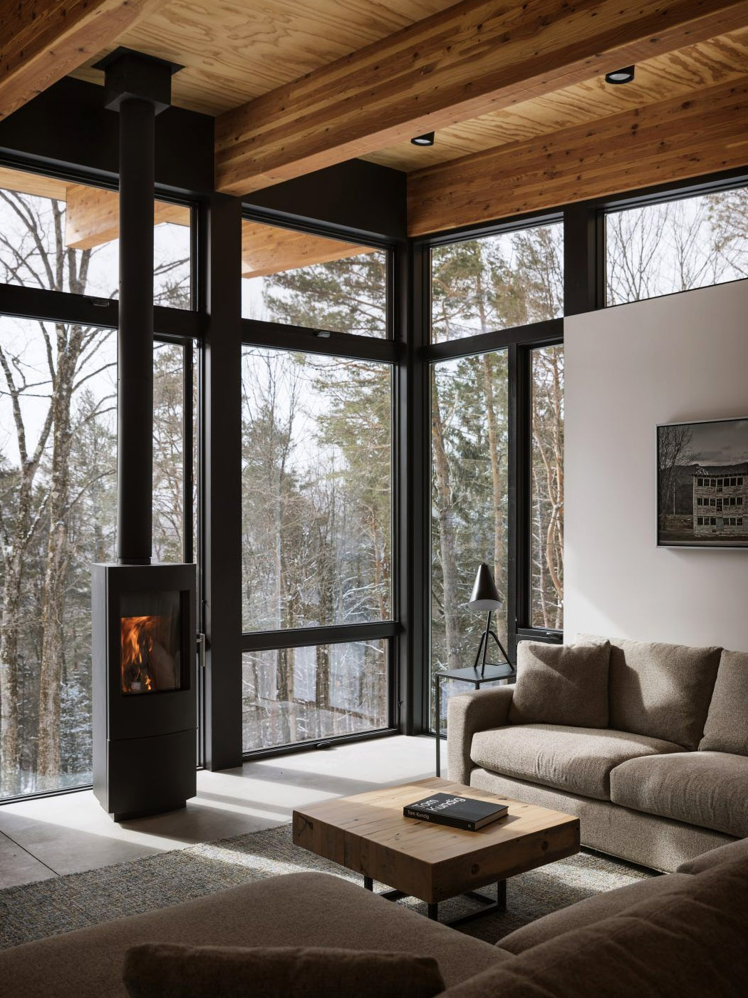 This cozy winter cabin in Vermont was built to help you connect with your family and nature!