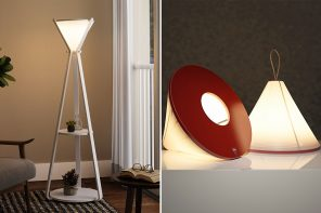 The IKEA-worthy multifunctional hourglass lamp is an inspiration for the furniture design industry