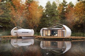 This modular camper design brings you closer to nature with sustainable travel and 360-degree windows!