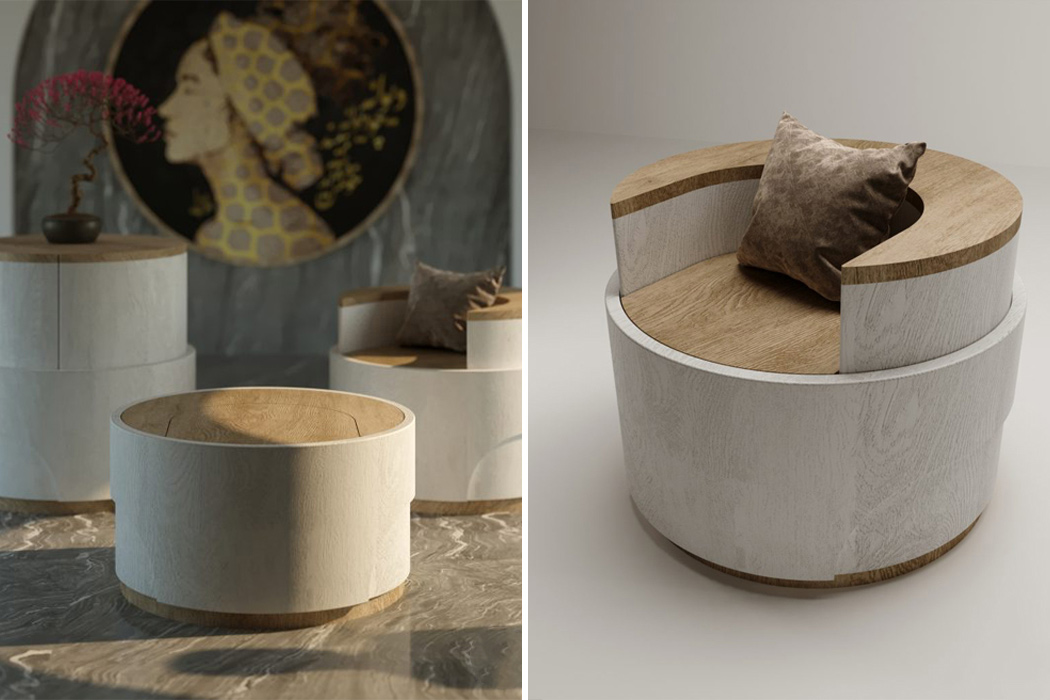 This multifunctional side table transforms into a chair and make the most of tiny living!