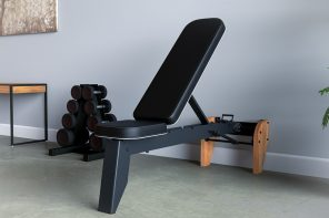 This versatile fold-out incline bench gives you the full gym experience within your home