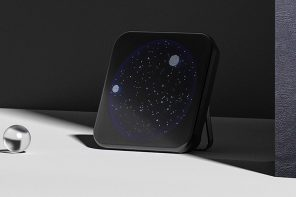 Brings the real time starry night sky to your home with this home clock + speaker gadget!