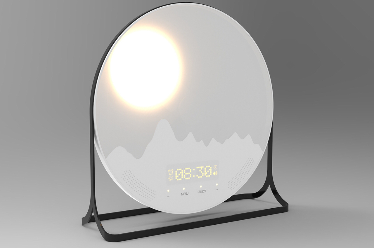 This alarm clock mimic's the sun's placement in the sky so you can always wake up energized!