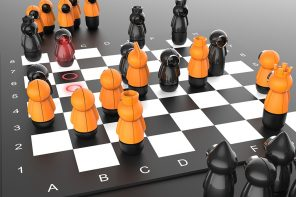 This chess board uses visual projectors to help you learn the game and learn creating strategies!