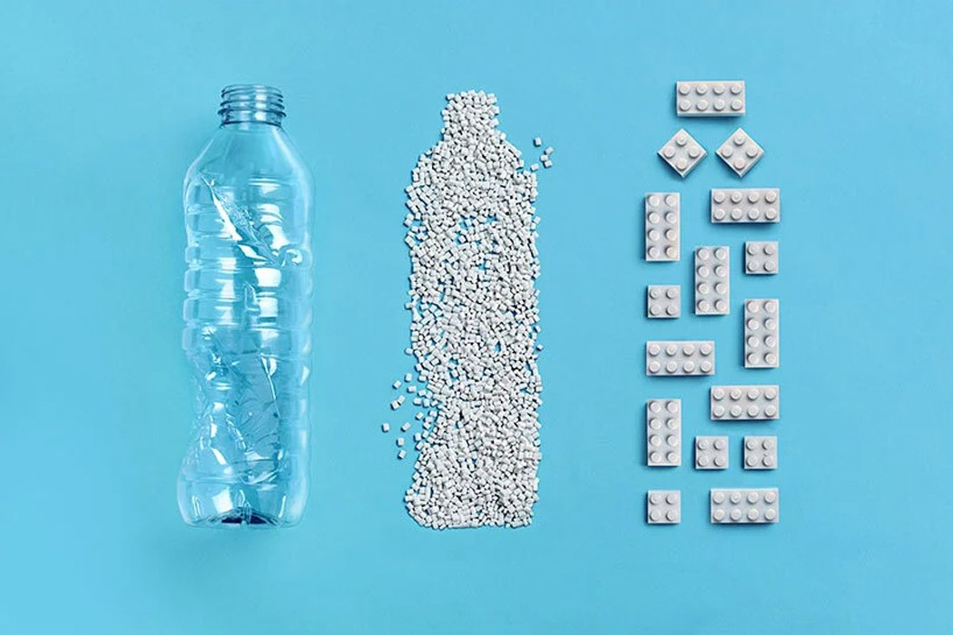LEGO Bricks made from Recycled Plastic Bottles