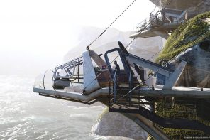 These wildlife-inspired futuristic cabins suspend off the cliffs like StarWars jets ready for takeoff!