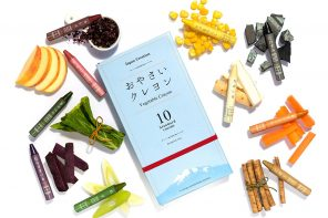 A Japanese designer made 100% natural crayons by recycling produce and vegetable waste!