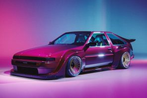 A Mazda FB RX7 body kit meets Toyota Sprinter to create a funky Fast & Furious 9 worthy racer!