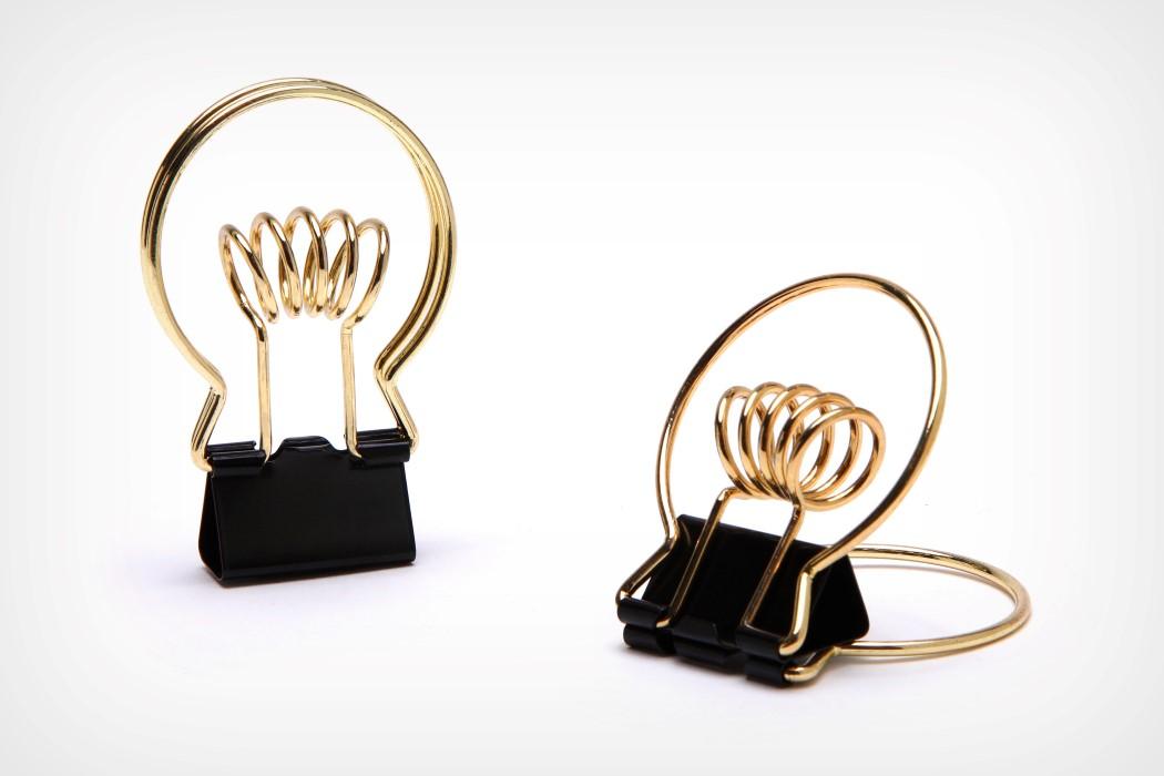 Clipbulb Binder Clip with Pen Holder by Peleg Design