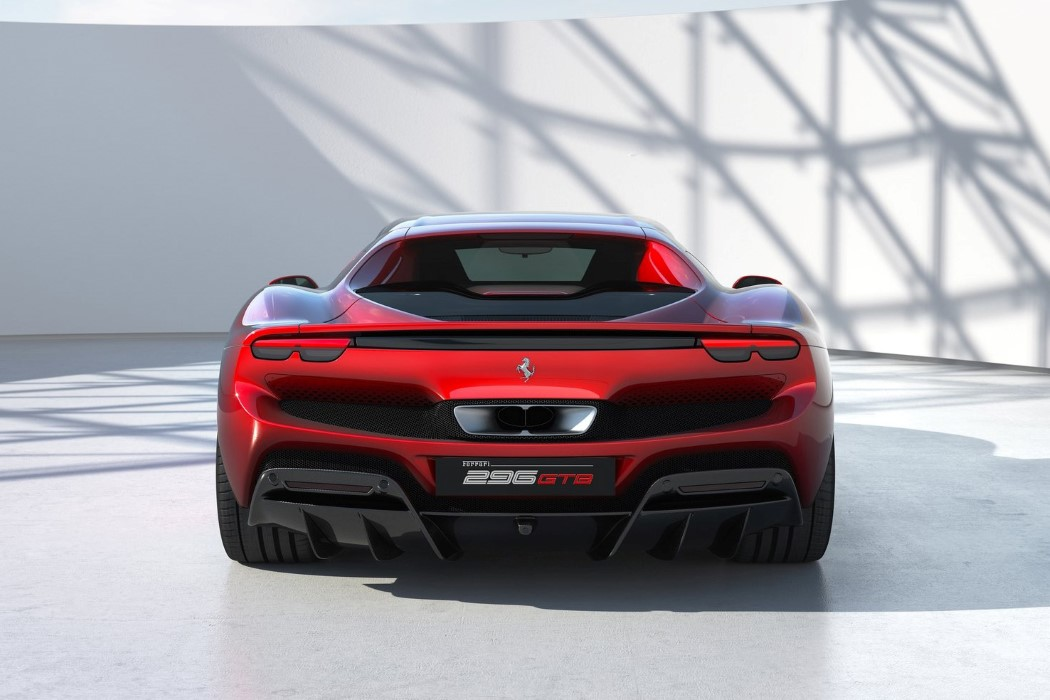 Ferrari 296 GTB Supercar with V6 Hybrid Powertrain