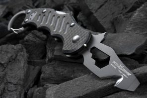 This folding karambit comes with multitools built right into its blade, making it a versatile EDC