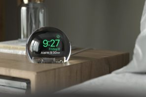 This Apple Watch dock comes with a massive magnifying-glass, turning the watch screen into a time-telling crystal orb