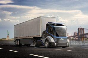 This 100% Hydrogen-powered autonomous road truck brings zero-emission transportation to freeways!