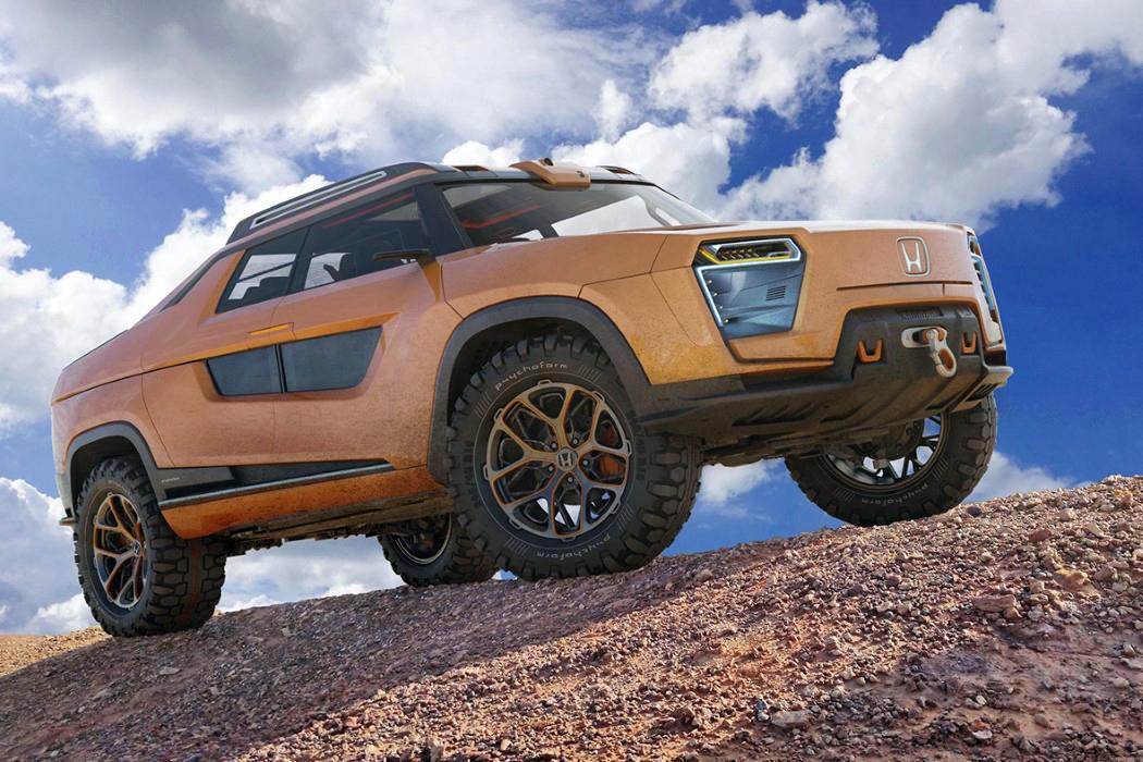 Honda Ridgeline Electric Pickup Truck Concept
