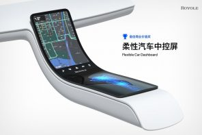 Royole's flexible display technology could one day turn your car's glove box into an interactive dashboard