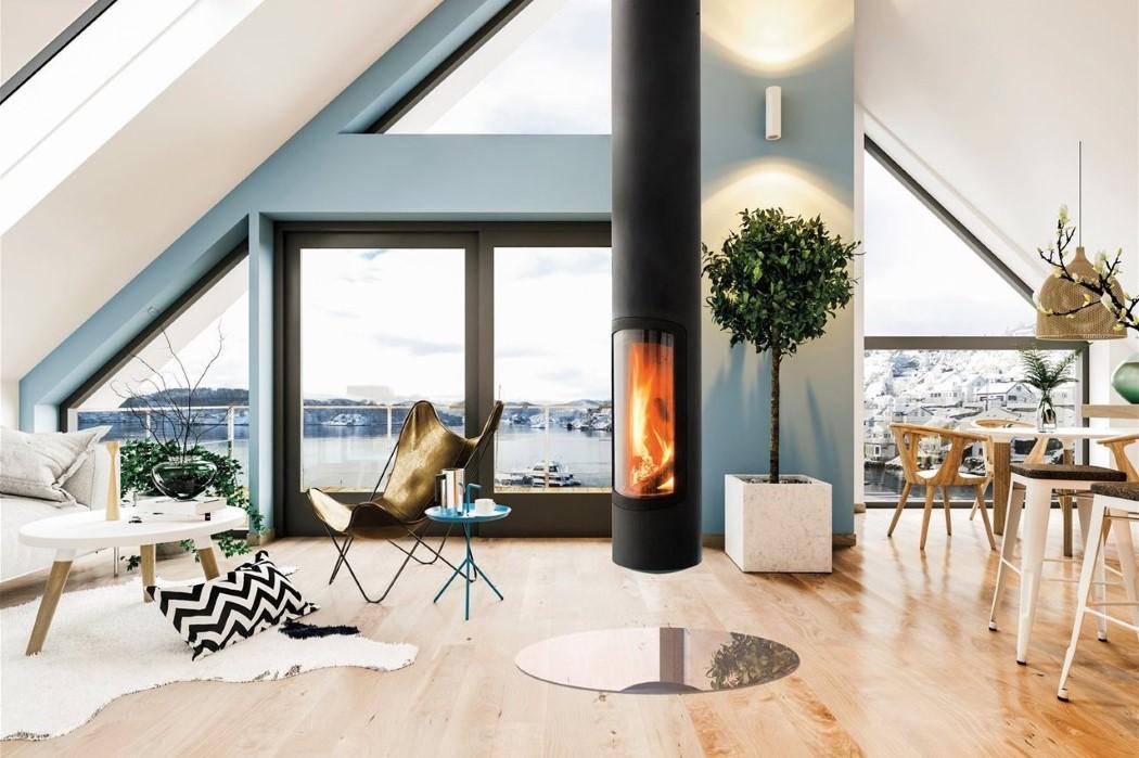 Slimfocus Slim Modern Fireplace for Indoors