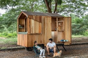 This tiny home crafted from timber can be attached to your car for the ultimate flexible lifestyle!