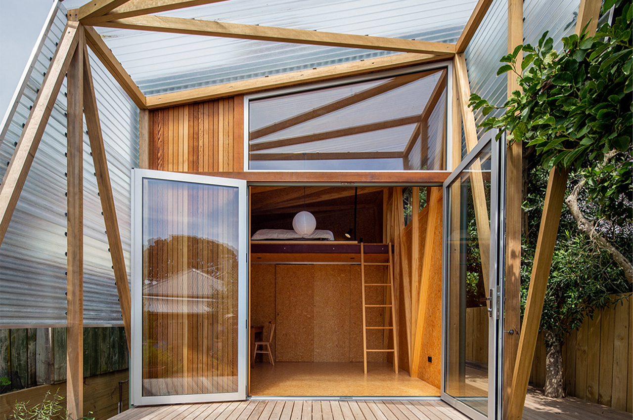This tiny studio apartment sits in your backyard to give you a bonus functional and flexible space!