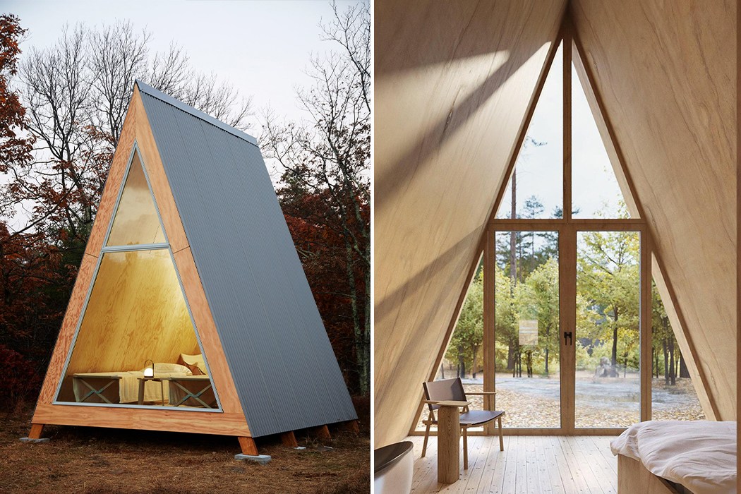 This wooden cabin comes in a flat-pack DIY kit so you can assemble your own tiny holiday home!