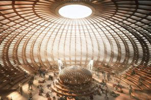 This greek mythology-inspired Temple built entirely from timber was designed to be burned at Burning Man!