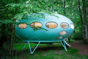 This spaceship from the 1960s was restored for guests to stay for some Jetsons-inspired staycation!