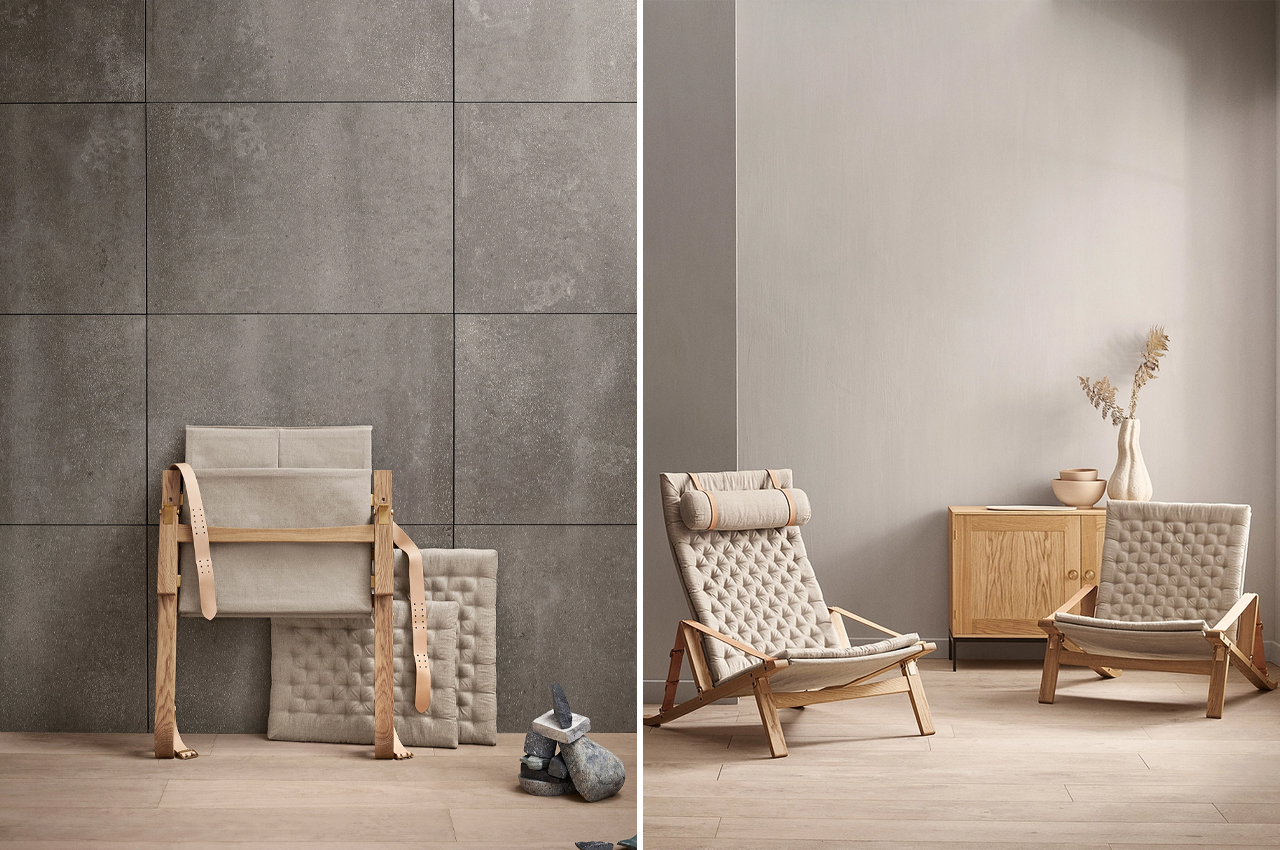 This versatile lounge chair opens up every room with its foldable build and Scandinavian design