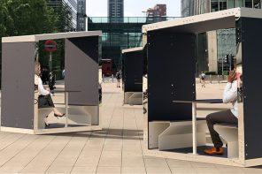 These eco-friendly meeting pods deliver solar-powered charging ports so you bring WFH outdoors!
